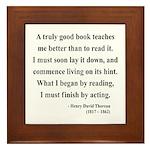 Henry David Thoreau 24 Framed Tile