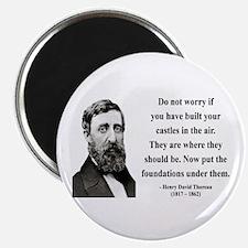 "Henry David Thoreau 25 2.25"" Magnet (10 pack)"