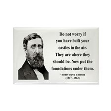 Henry David Thoreau 25 Rectangle Magnet (10 pack)