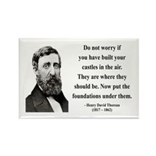Henry David Thoreau 25 Rectangle Magnet