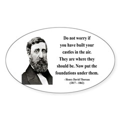 Henry David Thoreau 25 Oval Decal