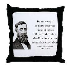 Henry David Thoreau 25 Throw Pillow