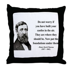 Henry David Thoreau 25 Throw Pillow