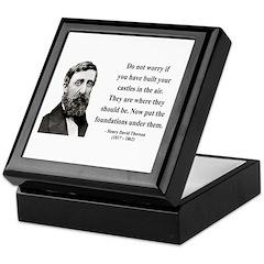 Henry David Thoreau 25 Keepsake Box