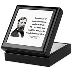 Henry David Thoreau 25 Keepsake Box