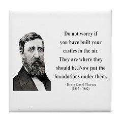 Henry David Thoreau 25 Tile Coaster