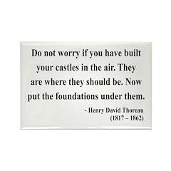 Henry David Thoreau 25 Rectangle Magnet (100 pack)