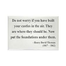 Henry David Thoreau 25 Rectangle Magnet