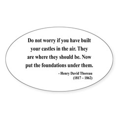 Henry David Thoreau 25 Oval Decal