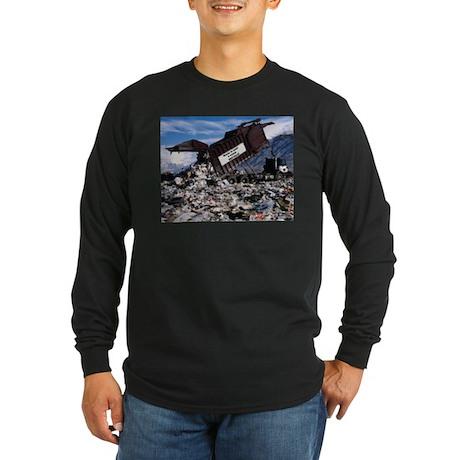 Recycle it. Long Sleeve Dark T-Shirt