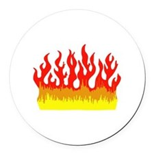 FIRE FLAMES Round Car Magnet