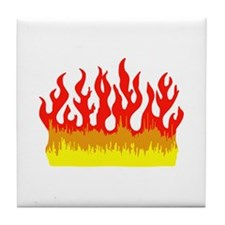 FIRE FLAMES Tile Coaster