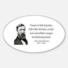 Henry David Thoreau 26 Oval Decal