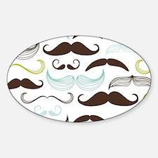 Blue, Green & Brown Mustache Design Decal