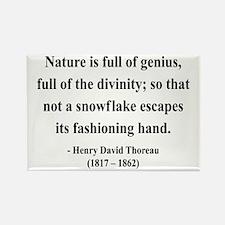Henry David Thoreau 26 Rectangle Magnet