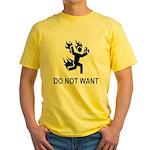 DO NOT WANT FIRE Yellow T-Shirt