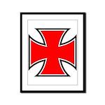 Iron Cross - Red & Black Framed Panel Print