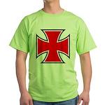 Iron Cross - Red & Black Green T-Shirt