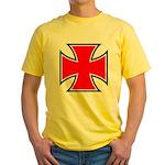 Iron Cross - Red & Black Yellow T-Shirt