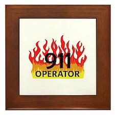 911 OPERATOR Framed Tile