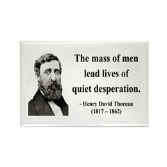 Henry David Thoreau 27 Rectangle Magnet (10 pack)