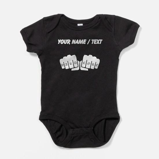 Hard Core Knuckle Tattoo (Custom) Baby Bodysuit