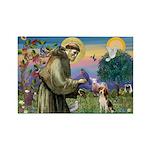 Saint Francis / Beagle Rectangle Magnet