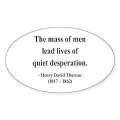 Henry David Thoreau 27 Oval Decal