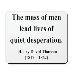 Henry David Thoreau 27 Mousepad
