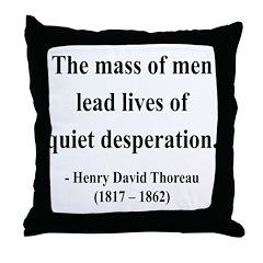 Henry David Thoreau 27 Throw Pillow