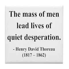 Henry David Thoreau 27 Tile Coaster