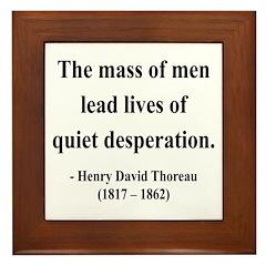 Henry David Thoreau 27 Framed Tile