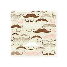 Pink & Brown Mustache Design Sticker