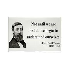 Henry David Thoreau 28 Rectangle Magnet (100 pack)