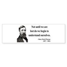 Henry David Thoreau 28 Bumper Bumper Sticker