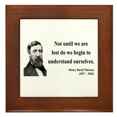 Henry David Thoreau 28 Framed Tile