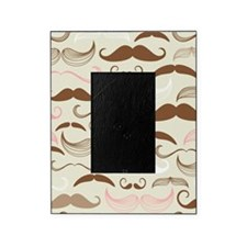 Pink & Brown Mustache Design Picture Frame
