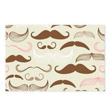 Pink & Brown Mustache Des Postcards (Package of 8)