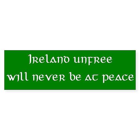Ireland unfree Bumper Sticker