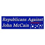 Republicans Against John McCain bumper sticker