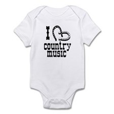 I Love Country Music Infant Bodysuit