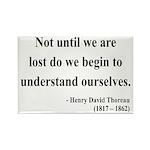 Henry David Thoreau 28 Rectangle Magnet (10 pack)