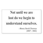 Henry David Thoreau 28 Rectangle Sticker