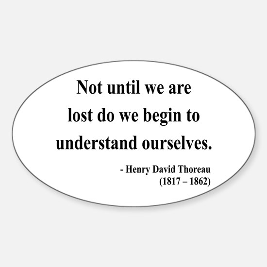 Henry David Thoreau 28 Oval Decal