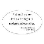 Henry David Thoreau 28 Oval Sticker
