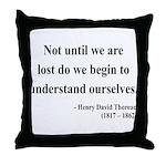Henry David Thoreau 28 Throw Pillow