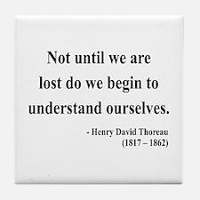Henry David Thoreau 28 Tile Coaster