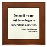 Henry David Thoreau 28 Framed Tile