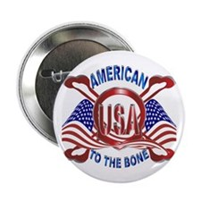 American to the Bone Button