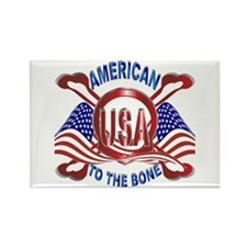 American to the Bone Rectangle Magnet